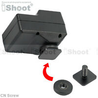 """Hot Shoe Mount/Cold Foot to 1/4"""" Screw Adapter for Wireless Radio Flash Trigger"""