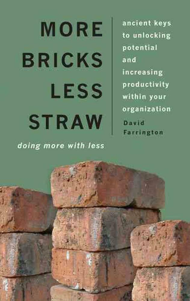 More bricks less straw by dave farrington paperback book for Less is more boek