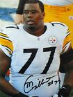 MARCUS GILBERT SIGNED 8x10 PHOTO PROOF STEELERS COA PRIVATE SIGNING *AUTHENTIC*