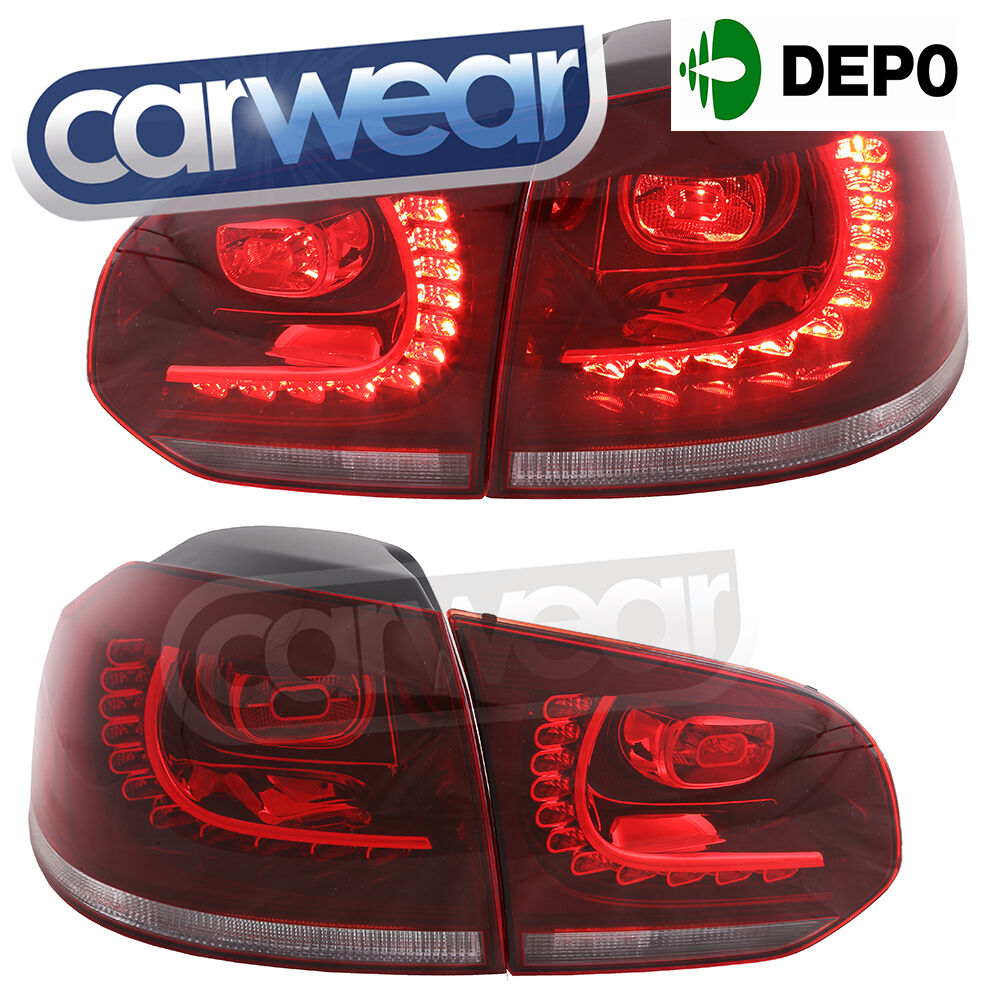 Vw Golf Mk6 R20 Led Clear Red Style Tail Lights Vw Vi 6