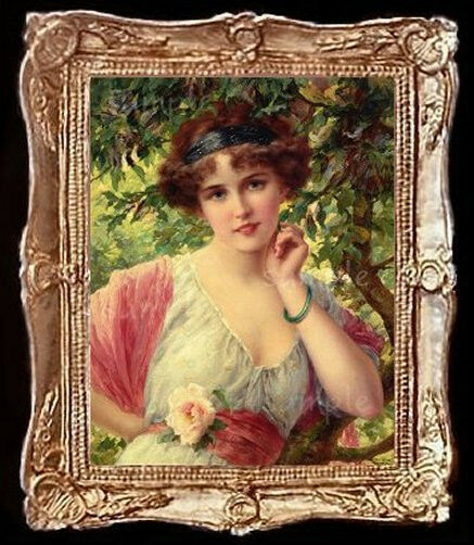 The Victorian Rose Lady Miniature Dollhouse Picture Ebay