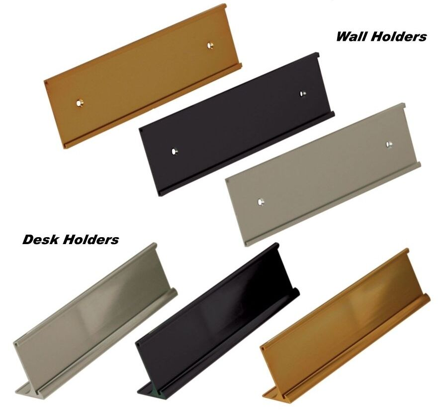Office name plate holders for 2x10 wall mount or desk top for Door name plates