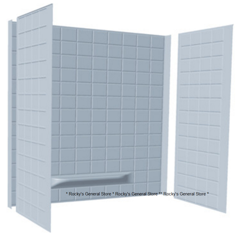 Tub Surround 3 Piece Tiled Bath Tub Shower Wall Enclosure