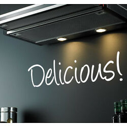 Delicious! Wall Sticker Quote Word Decal Kitchen Home DIY Vinyl Home Adhesive