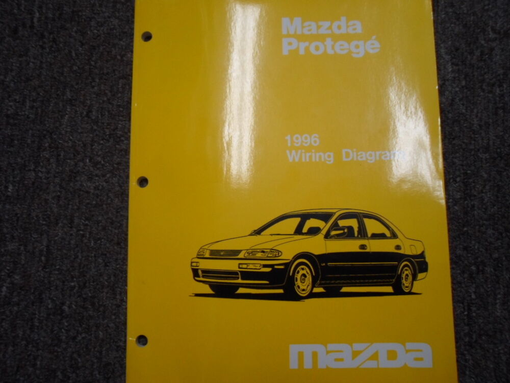 1996 Mazda Protege Electrical Wiring Diagram Service Repair Shop Manual Oem Book