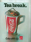 COCA COLA DRINKS ADVERT MAGAZINE CLIPPING NOT A COPY
