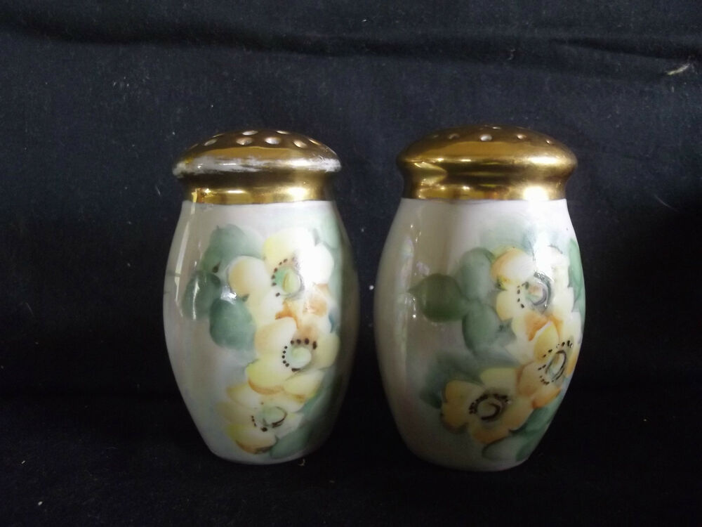 C1930 Germany Porcelain Salt And Pepper Shakers