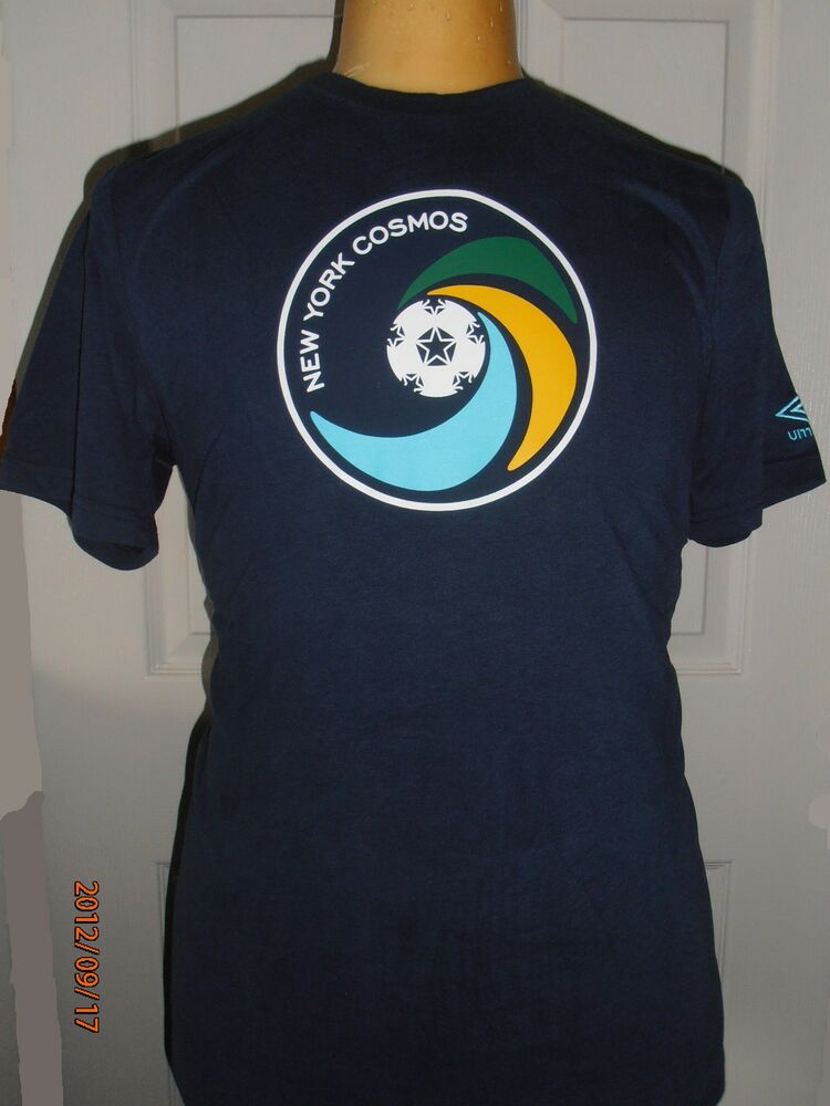 Bnwt new york cosmos football soccer club t shirt by umbro for T shirts for clubs