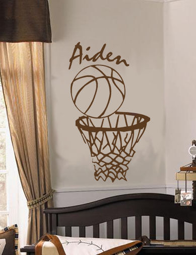 Personalized Name Basketball Nba Sports Vinyl Wall Decal