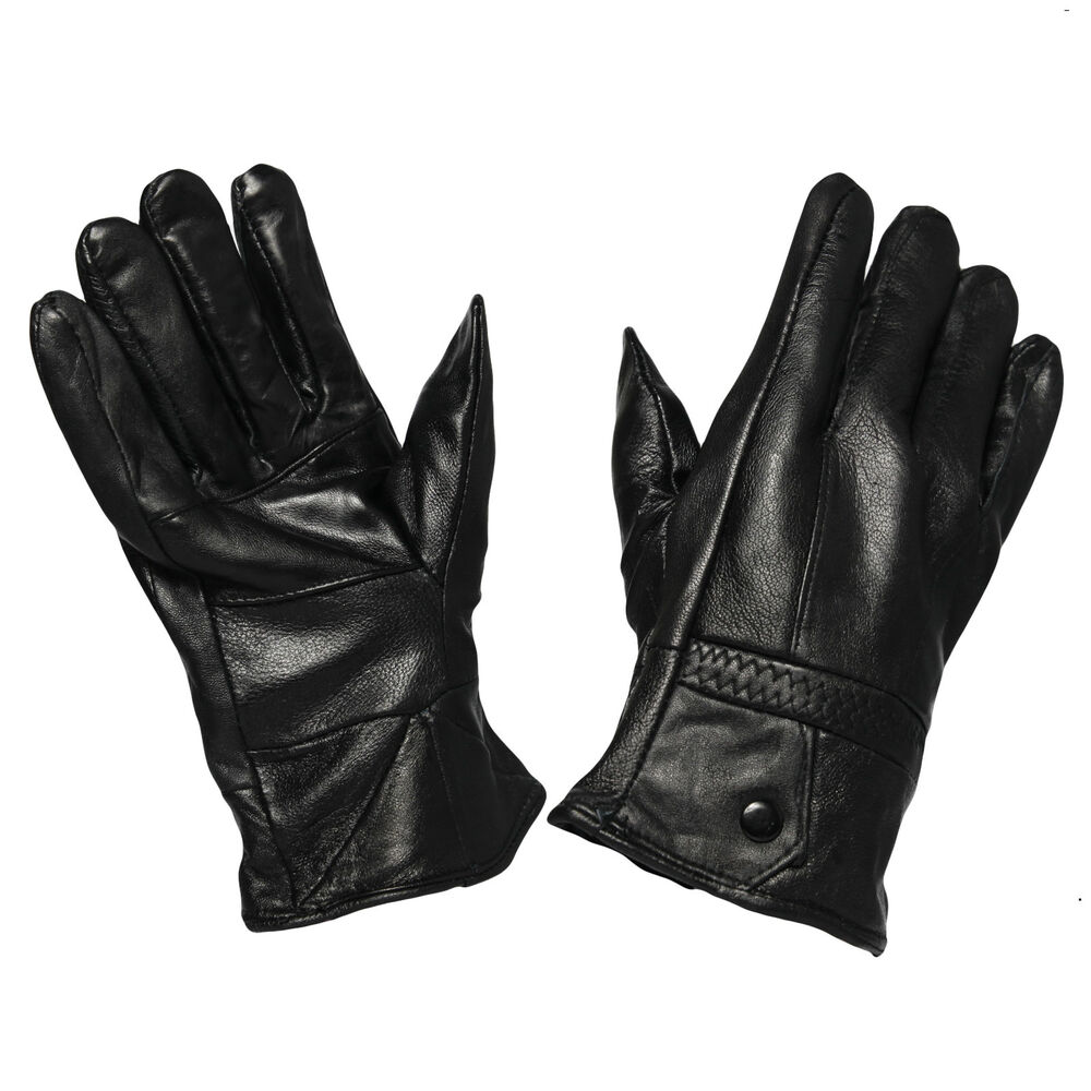 G50 MENS FLEECE WINTER THERMAL LINED DRIVING SMART LEATHER
