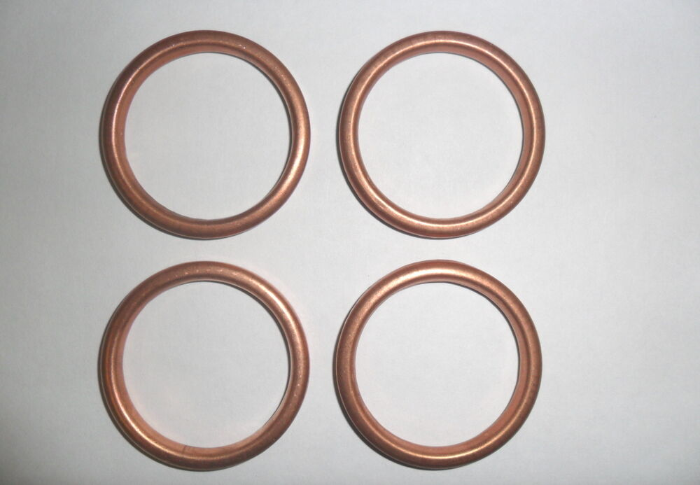 Copper exhaust gaskets for honda gl goldwing set of