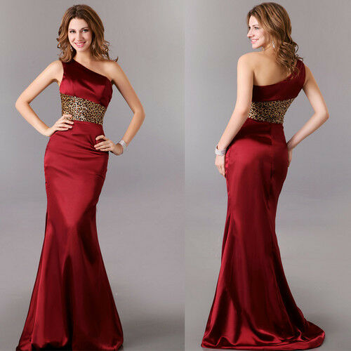 One shoulder formal party gown evening dress bridesmaid for Wedding party dresses in sri lanka