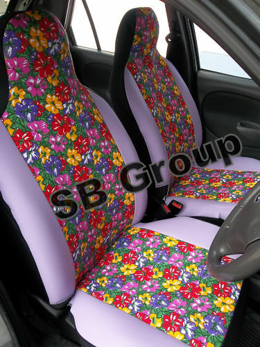 nissan micra car seat covers flowers ebay. Black Bedroom Furniture Sets. Home Design Ideas