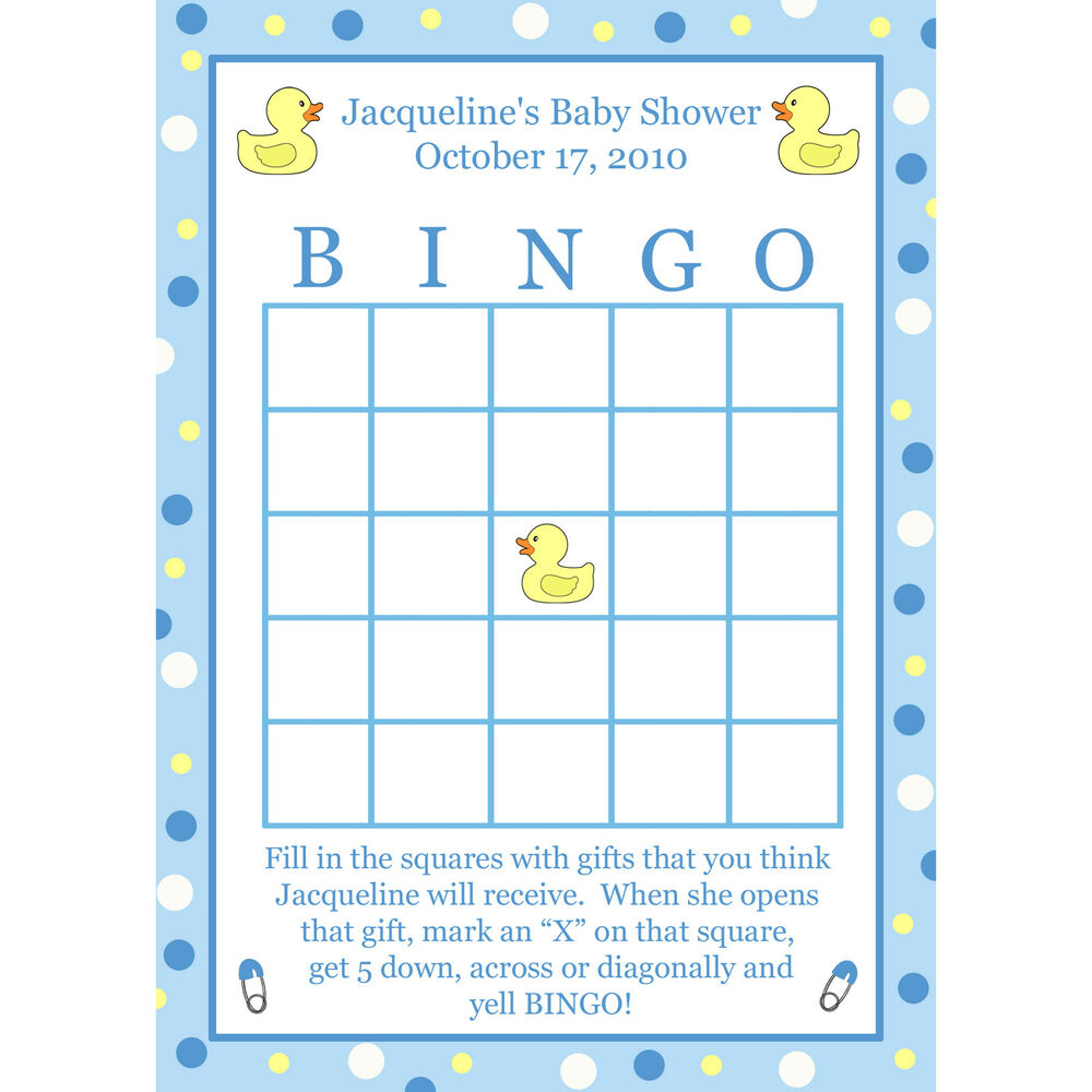 This is a graphic of Persnickety Printable Baby Bingo Cards