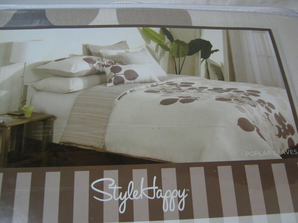 New Style Happy Poplar Leaves King Duvet Cover Amp Shams Set