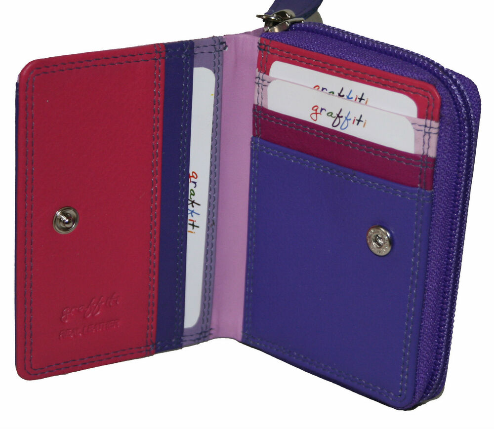 Credit Coin: NEW WOMENS GOLUNSKI SMALL COIN/CREDIT CARD HOLDER COLOURS