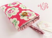 iPhone 5 / 4 / Smart Phone Padded Case - Made In Cath Kidston Fabric - Red Rose