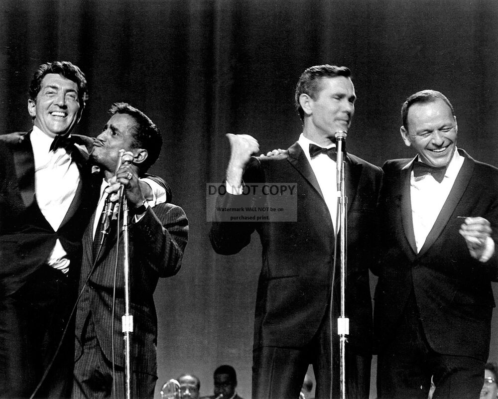 carson with rat pack dean martin frank sinatra sammy davis 8x10 photo ep 514 ebay. Black Bedroom Furniture Sets. Home Design Ideas