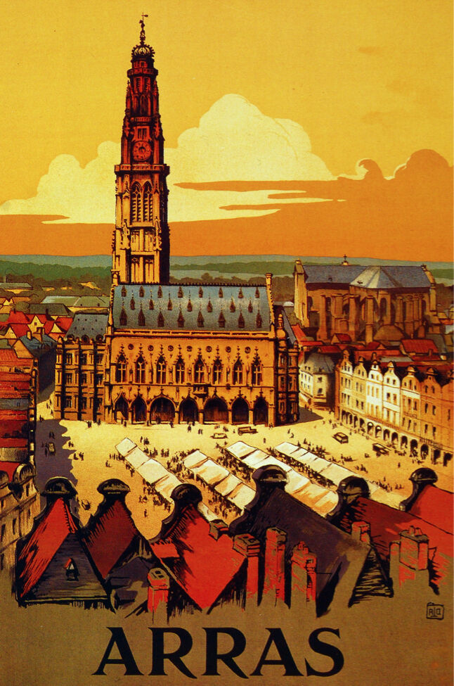 6177 arras france french city travel poster wall art for Art and decoration france