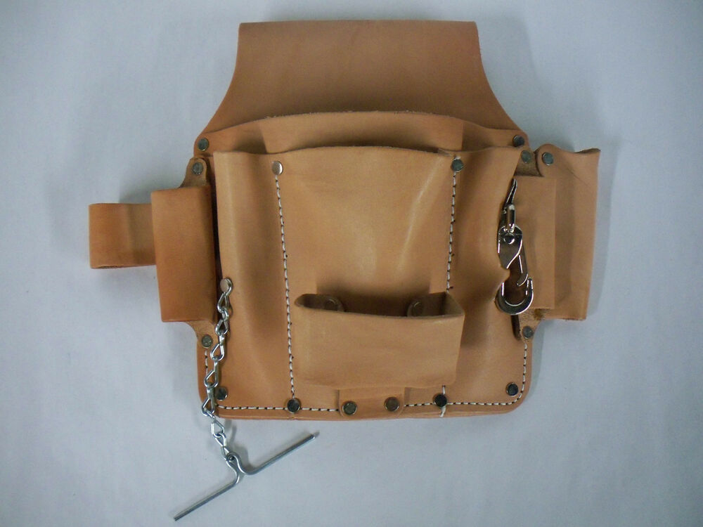 electrician s tool pouch for belt quality saddle leather 6