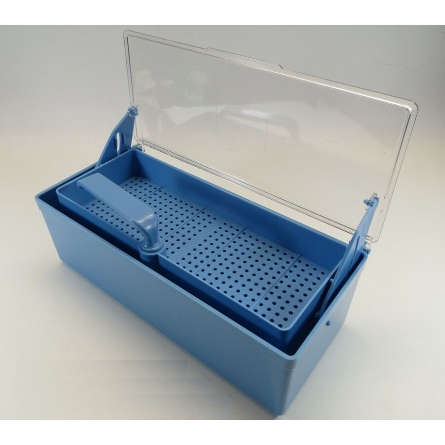 Blue Germicide Tray For The Cold Sterilization Of Dental