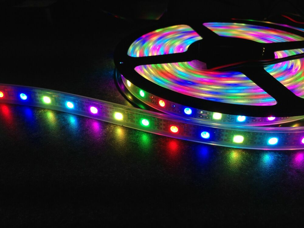 60 leds m 1m ws2811 rgb led strip ip67 waterproof. Black Bedroom Furniture Sets. Home Design Ideas