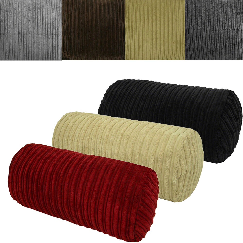 Chunky Cord Bolster Cushions Covers Cylinder 8x17in