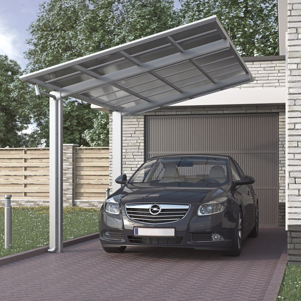aluminium carport bausatz einzelcarport freistehend edel. Black Bedroom Furniture Sets. Home Design Ideas