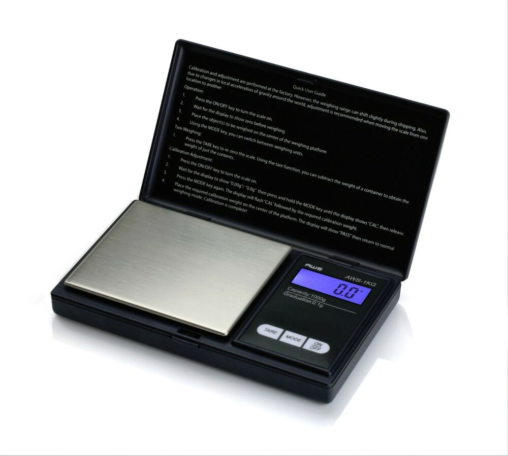 Aws Digital Scale 1000g X 0 1g Jewelry Gold Silver Coin