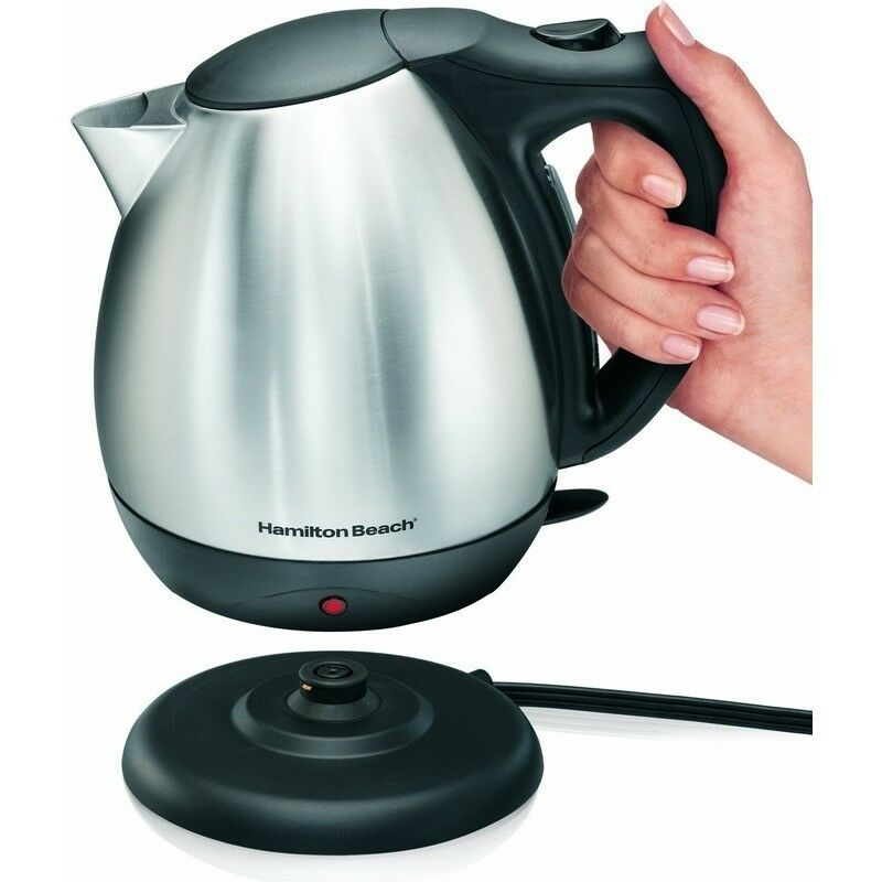 10 cup stainless steel cordless electric kettle hot water. Black Bedroom Furniture Sets. Home Design Ideas