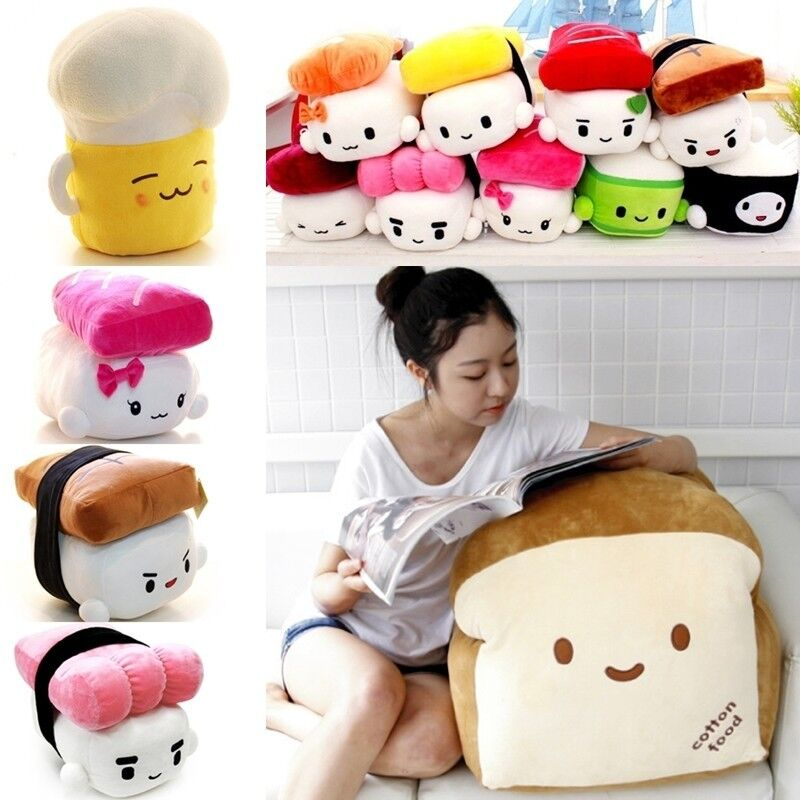 Cute Food Pillows Diy : JAPAN SUSHI PILLOW VARIOUS FOOD CUSHION TOY PLUSH DOLL / X-MAS GIFT / FREE SHIP eBay