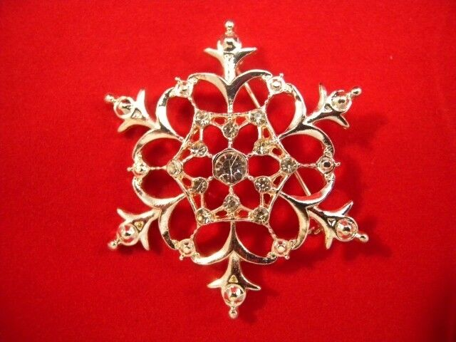 Macy S Holiday Lane Silver Snowflake Pin Brooch In