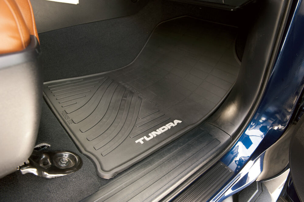 2 piece all weather floor mats for the 2012 2013 toyota. Black Bedroom Furniture Sets. Home Design Ideas