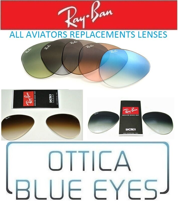 Lenti di ricambio sole rayban aviator 3025 ray ban replacement lenses 3407 3030 ebay - Ray ban aviator lenti a specchio ...
