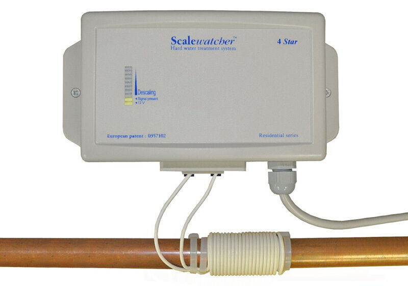 Scalewatcher 4 star electronic salt free water softener conditioner ebay for Water softener for 4 bedroom house