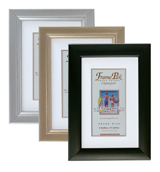 3 4 photo picture frame in black gold or silver 29 sizes