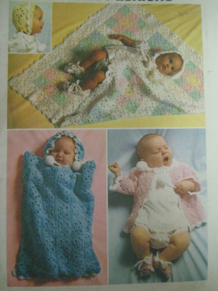 Vintage Simplicity 5488 Baby Layette Crochet Pattern