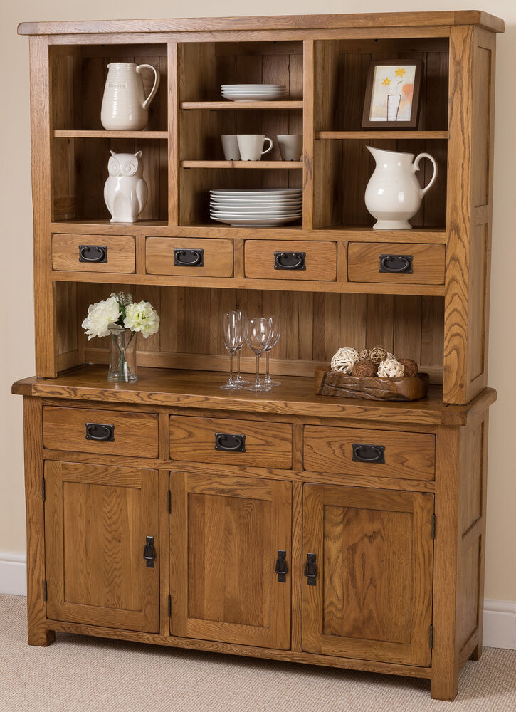 Cotswold Rustic Solid Oak Wood Large Welsh Dresser Cabinet Wall. Buy Welsh Dresser   Trend Dressers Designs