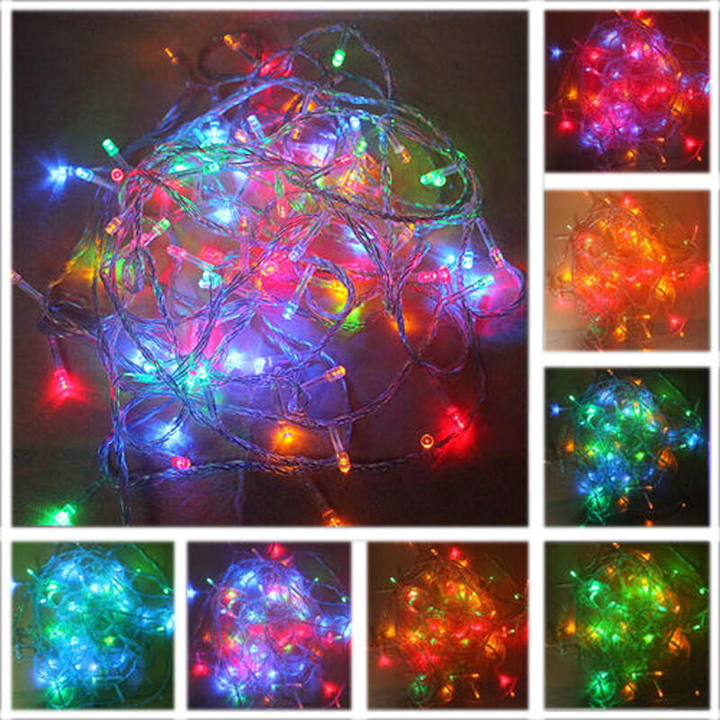 New Multi Color 10M 100LED Christmas Fairy Party String Lights Wedding Decor US eBay