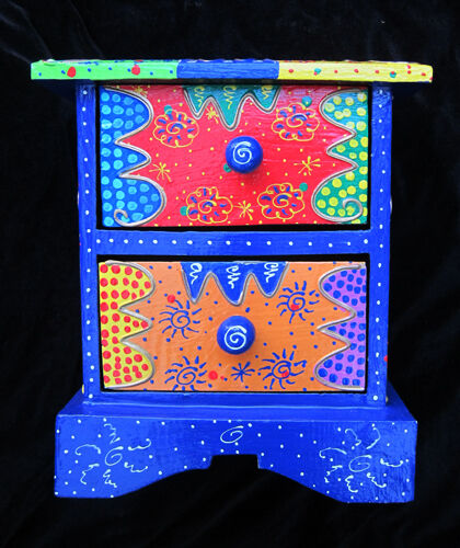 Small Decorative Chest Of Drawers Storage Box Jewellery