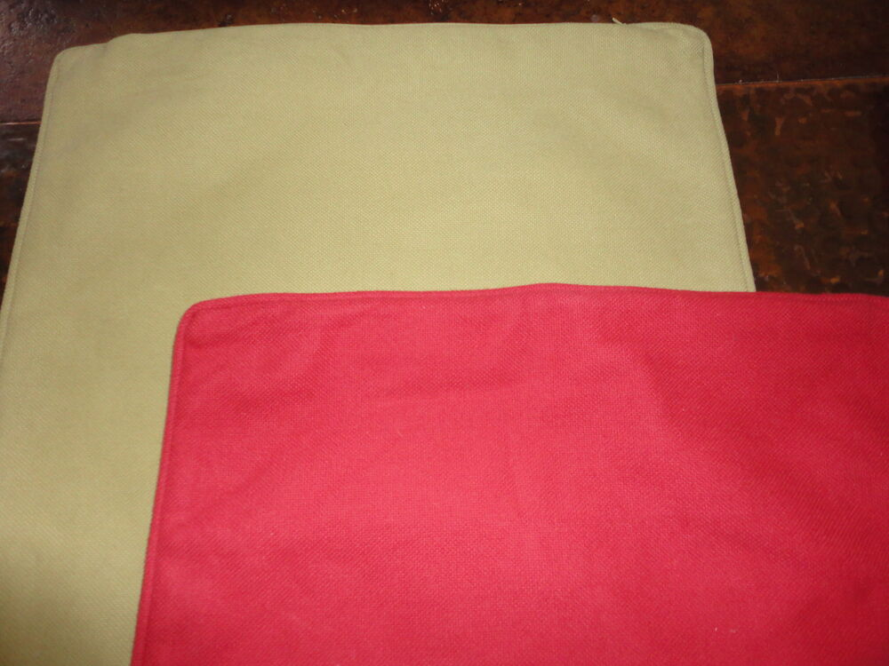 Pottery Barn Throw Pillow Green : POTTERY BARN ZIPPERED PILLOW COVERS YELLOW ORANGE RED GREEN PRE-OWNED eBay