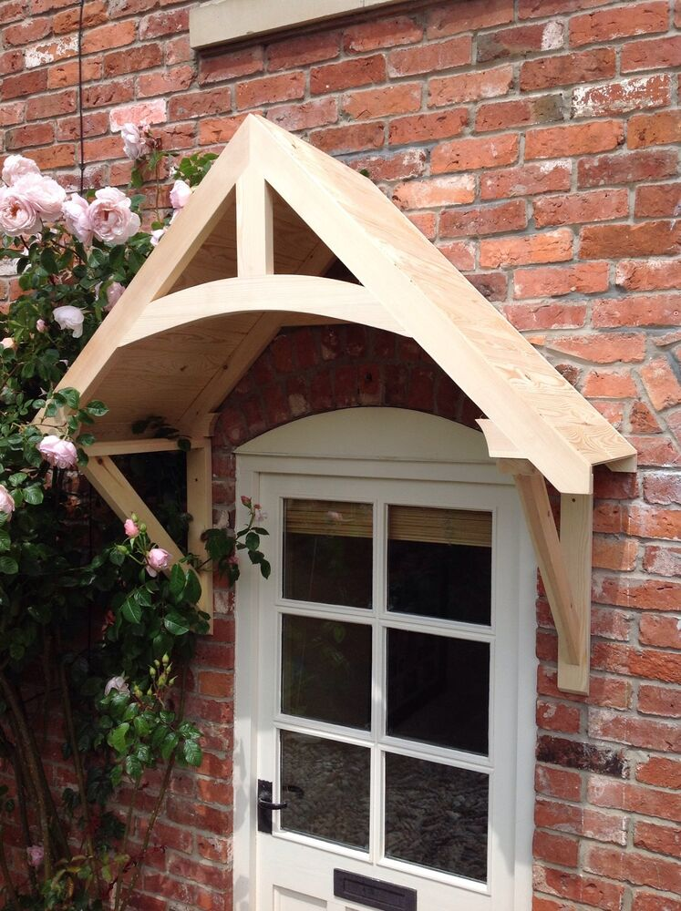 Timber front door canopy porch crossmere hand made for Porch canopy plans