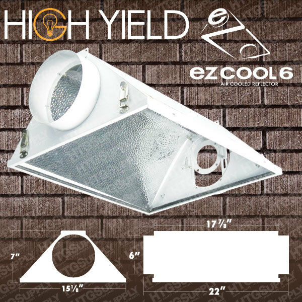 """Shop Light With Reflector: 6"""" AIR COOLED REFLECTOR HOOD Grow Light Lamp Hydroponics"""