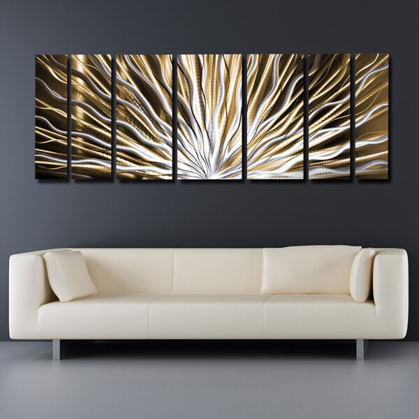 Modern art contemporary abstract metal wall sculpture work for Contemporary wall mural