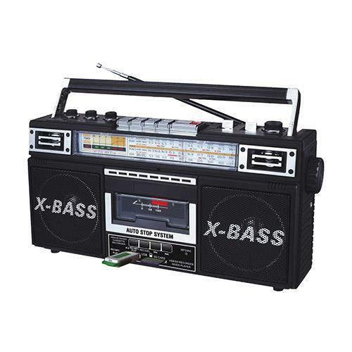 new boombox cassette tape player to mp3 converter stereo speaker system portable ebay. Black Bedroom Furniture Sets. Home Design Ideas