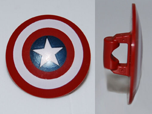 Minifig, Shield Rounded With Bullseye With Star
