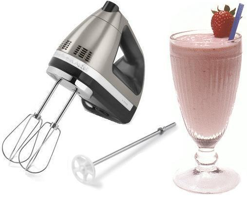 Kitchenaid Hand Mixer Khm620acs 6 Speed Silver Milk Shake