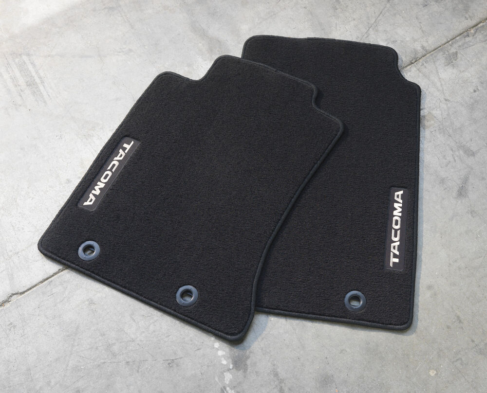 2 Piece Black Carpet Floor Mat For 2012 2015 Toyota Tacoma