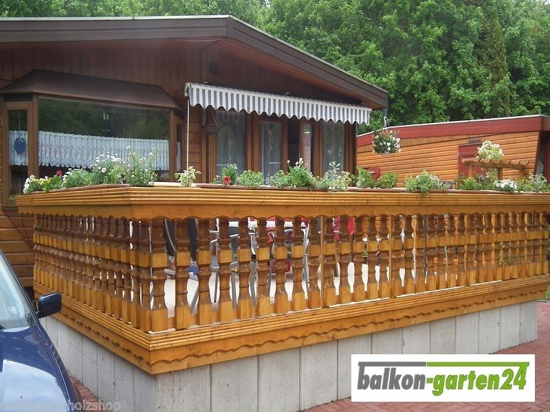 holzbalkon bausatz balkongel nder balkon holz gel nder balkonbrett ebay. Black Bedroom Furniture Sets. Home Design Ideas