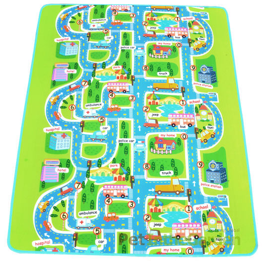 Kids Car Road Track Children Play Mat Pad Rug Lego Big 2m